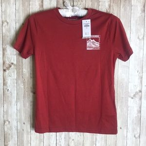Abercrombie and Fitch Red Graphic Tee 9/10